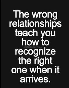 Wrong relationships