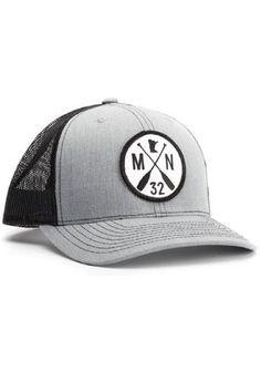 8b3cb5749cfde Adjustable mesh back trucker cap with Minnesota 32 Paddle logo.