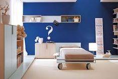 Resultado de imagem para paredes com listras azuis