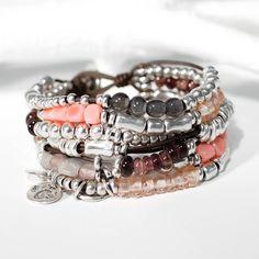 Bracelet Uno de 50 Florida fait de métal plaqué argent sterling et pierre fine. Bijou de fantaisie, fait à la main et importé d'Espagne.