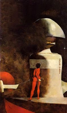 Jeffrey Catherine Jones - Cover for one of Andre Norton's Solar Queen novels. Jeff Jones, Psychedelic Space, John Howe, 70s Sci Fi Art, Cosmic Art, Science Fiction Art, Illustration Artists, Retro Futurism, Fantastic Art