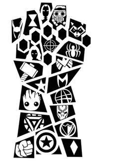 Marvel Comics, Marvel Art, Marvel Avengers, Marvel Noir, Marvel Infinity, Infinity War, Die Rächer, Marvel Drawings, Silhouette Cameo Projects