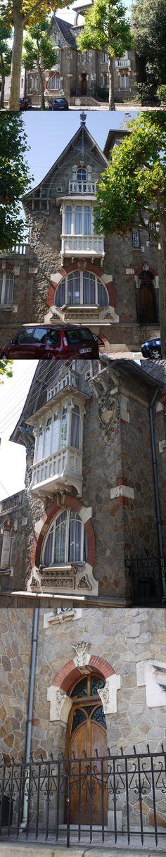 Villa Jeannette. Art Nouveau 1908. Ferdinand Ménard & Emile Le Bot - 98 boulevard des Anglais - Nantes - France