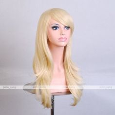 "Outop 28 ""Women's Hair Wig New Fashion Long Big Wavy Hair Heat Resistant Wig for Cosplay Party Costume (Light Blonde)"