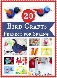 20 Easy Spring Bird Crafts for Kids // knutselen - vogels - lente - kinderen
