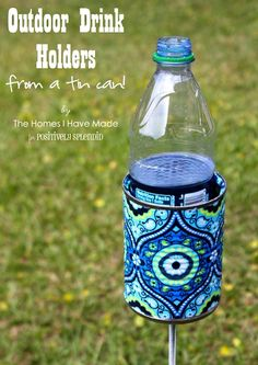 Outdoor drink holder. ~ Mod Podge Rocks! Possible craft @Megan Haddad We need these!