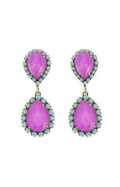 For the girl that loves color -- purple and turquoise Loren Hope earrings.