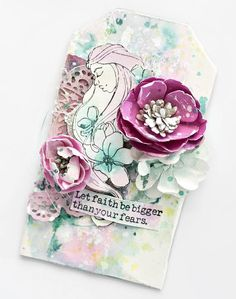 """Hello! I'm Delaina and I am going to be your fabulous hostess for the next two hours! Starting right now we have Tiffany making gorgeous tags with the """"Creating In Faith"""" line by Jamie Dougherty on ustream! Click here to watch and join in the chat: up! http://www.ustream.tv/channel/primaflower   #NSDPrima #moretocome #staytuned"""