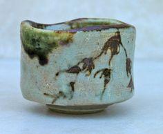 Oribe style guinomi Guinomi are sake cups, actually 'one gulp' sake cups. bigger than the usual sake cups