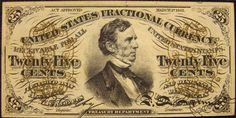 This note is in almost uncirculated condition with great color and features William Pitt Fessenden (Treasury Secretary of the United States under Lincoln) on the front vignette.