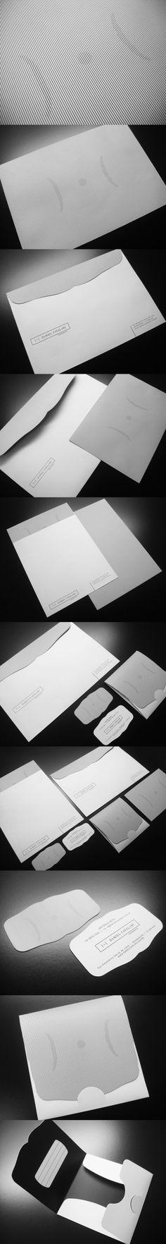 法式條紋時尚感 信封設計 | MyDesy 淘靈感