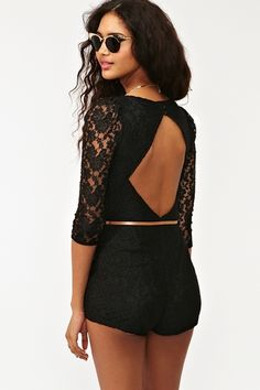 Lace + backless...maybe in a dress