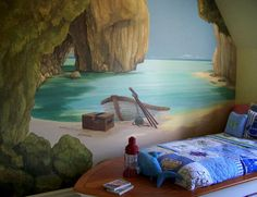 I would love to paint something like this on my kids bedroom wall someday!