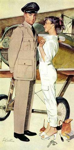 Fritz Willis,good girl art,gga,pinup,pin-up Vintage Romance, Vintage Love, Vintage Art, Vintage Drawing, Vintage Pictures, Vintage Images, Vintage Posters, Norman Rockwell, Vintage Couples