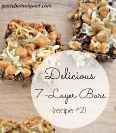 My mom and I are arguing over the best 7 Layer Bar #Recipe. She says it's this one. I say, make them both (link to the other one in this post) and enjoy the judging process!