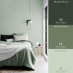 Slaapkamer Groen Wit Goedkoop Slaapkamer Grijs Groen For, Gallery Slaapkamer Groen Wit Goedkoop Slaapkamer Grijs Groen For with total of image about 30653 at Moderne Huizen Sage Green Bedroom, Green Bedroom Walls, Bedroom Wall Colors, Bedroom Color Schemes, Green Rooms, Green Bedroom Decor, Office Wall Colors, Green Walls, Guest Bedrooms