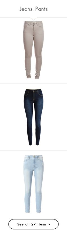 """Jeans, Pants"" by lalittaaristha ❤ liked on Polyvore featuring pants, leggings, jeans, bottoms, pantalones, aluminium, brown pants, five pocket pants, 5 pocket pants and legging pants"