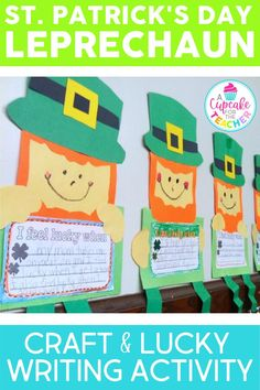This St. Patrick's Day your kiddos will love creating their own leprechaun! Then they'll write about what makes them feel lucky! #luckyleprechaun #ifeellucky #leprechauncraft