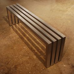 Linear Bench - Stainless Steel