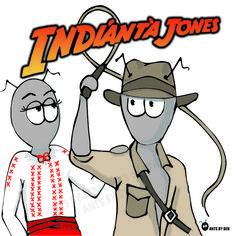 Classic movies by Ants by Deb presents: 'Indianta Jones', their version of the classic, 'Indiana Jones' starring Harrison Ford.