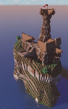 Cliff Outpost with skydock
