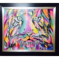 Hermoso tigre de Colores arte moderno