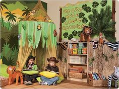 take two to three pieces of material perfectly see through. Hang from the ceiling and make it drape down to create a tent like scene. The just throw in pillows and soft place to set and let your child explore the wonders of books while using their imagination.