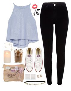 """""""Running scales"""" by sloanibanez ❤ liked on Polyvore featuring Zara, River Island, Converse, Topshop and Jeweliq"""