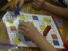 FABULOUS activity with LEGOs, focused on adding/subtracting one or two.