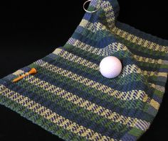 Handwoven golf towel by Katherine Buenger. Photo by Aimee Radman