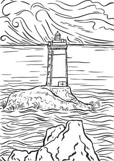 lighthouse coloring pages ready for download or print description from coloringpediacom i