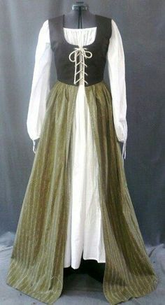 You could widen and split the underdress and it would make a great riding dress.