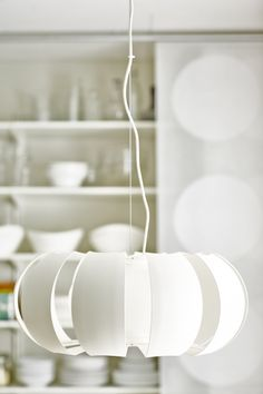 Always something new at IKEA! You can either hang the striking STOCKHOLM lamp close to the ceiling or low as a pendant.