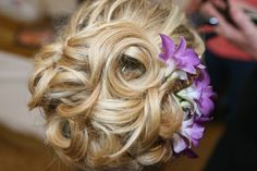 Beautiful up-do for a wedding!