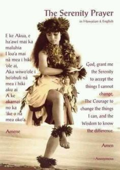 The Serenity Prayer in Hawai'ian ...