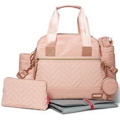 Have it all and then some with Skip Hop chic diaper bag and accessory set. We've given the standard diaper bag an upgrade by packing it with a complete range of coordinating accessories. Featuring lightweight, wipe-clean fabric and luxe details, Skip Hop bag will make you feel effortlessly pulled-together and fully equipped for any moment that comes your way. Choose from three different diaper bags in the Suite by Skip Hop collection Backpack, Tote or Satchel, sold separately.<br>&l...