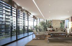 Proyecto en Polanco con doce niveles, un departamento por cada nivel. Divider, House, Room, Furniture, Home Decor, City Life, Single Wide, Abundance, Architects