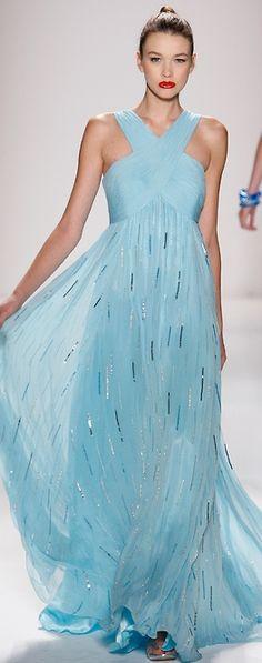 Farah Angsana, Spring 2013 - top only Blue Dresses, Formal Dresses, Estilo Fashion, Beautiful Gowns, Playing Dress Up, Dress To Impress, High Fashion, Women's Fashion, Evening Dresses