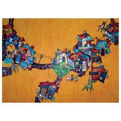Popular urbano.Acrílico y collage sobre lienzo. 2008.