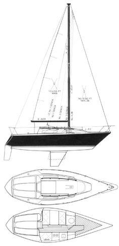 US 25 drawing on sailboatdata.com