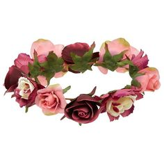 Forever 21 Rose Flower Crown (48 NOK) ❤ liked on Polyvore featuring accessories, hair accessories, floral garland headband, floral crown, embellished headbands, forever 21 hair accessories and flower garland headband