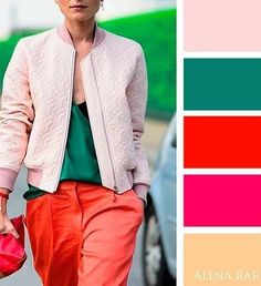 Color theory inspiration and trends. Colour Combinations Fashion, Colour Blocking Fashion, Color Combinations For Clothes, Color Blocking Outfits, Fashion Colours, Colorful Fashion, Color Combos, Color Harmony, Color Balance