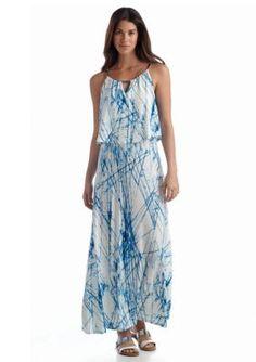 Calvin Klein  Double Layer Maxi Dress