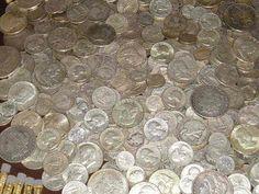 #coins 1+ OZ 90% PURE SILVER US COINS 1964 & OLDER MIXED LOT HALF DOLLAR QUARTER &DIMES please retweet
