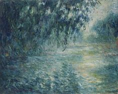 Claude Monet (Paris, 1840 - Giverny, 1926) : Morning on the Seine
