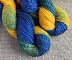Yellow + Blue = Green - Hand Dyed Gradient Yarn
