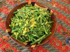 Food Lust People Love: Long Beans with Coconut #SundaySupper