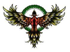 Free designs - Phoenix immortality symbol tattoo wallpaper