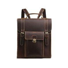 BALTIMORE 100 % VALÓDI BŐR HÁTIZSÁK - LUXURY Brown Backpacks, Brown Leather Backpack, Smart Styles, Cowhide Leather, Baltimore, Shoulder Strap, Laptop, Luxury, Bags