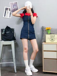 korean street fashion which looks great. korean street fashion which looks gre Korean Fashion Trends, Korean Street Fashion, Korea Fashion, Asian Fashion, Girl Outfits, Casual Outfits, Cute Outfits, Fashion Outfits, Fashion Ideas